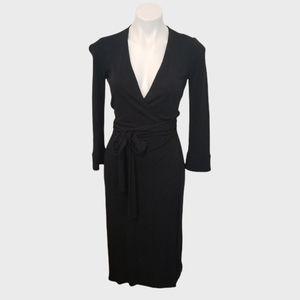 Diane Von Furstenberg | Vintage Black Wrap Dress